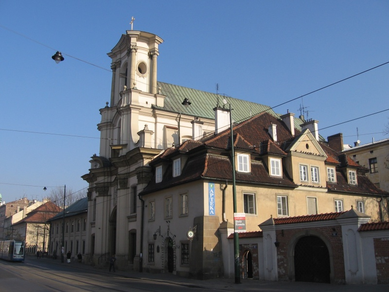 The baroque Holy Trinity (Hospitaller) Church and monastery on Krakowska street