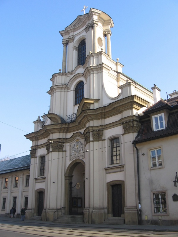 The baroque Holy Trinity Church on Krakowska street