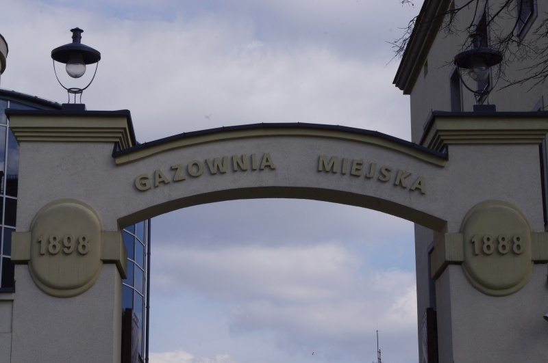 Entrance gate to the Municipal Gasworks, at present PGNiG