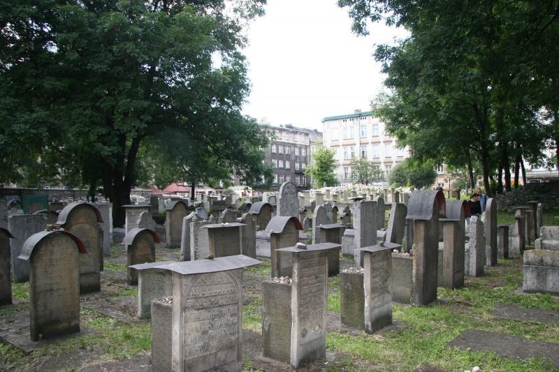 Cmentarz remuh - widok ogólny w stronę ulicy Miodowej