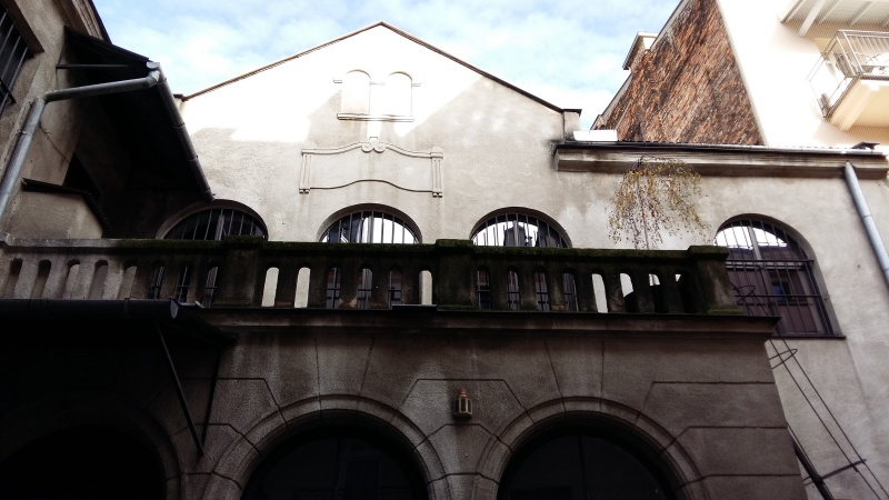 Former Jewish prayer house of Salomon Deiches in the courtyard at 6 Brzozowa street; now (2016)