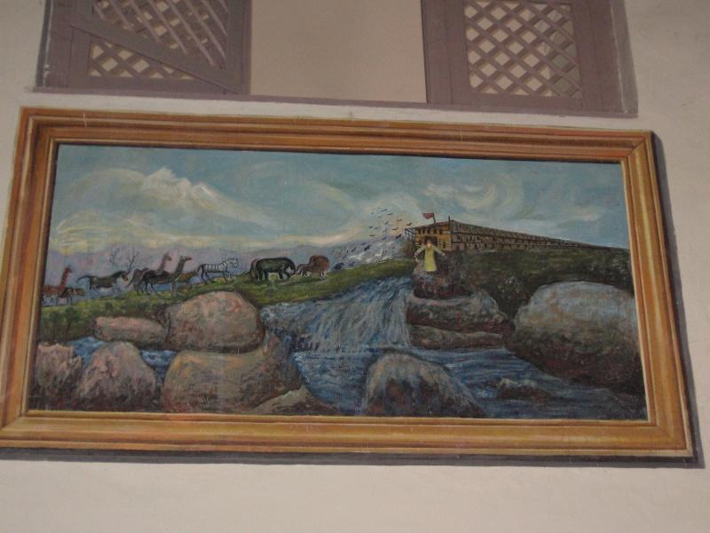 Noah's ark - wall painting in Kupa synagogue
