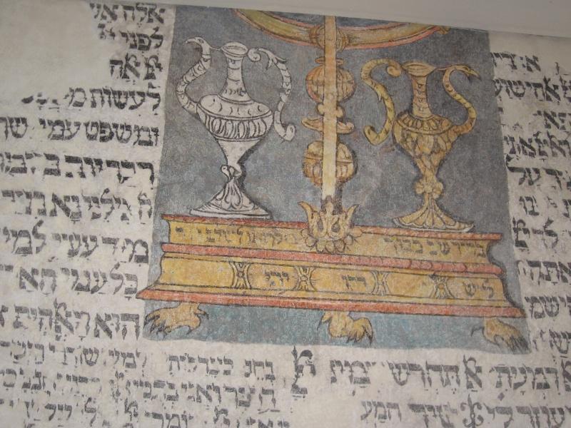 Dzbany - symbol Lewitów w synagodze Kupa