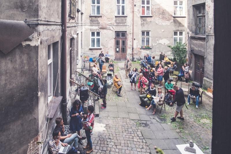 Courtyard of tenement in Sebastiana street