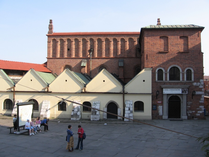 The facade and main entrance to the Old Synagogue in 2006