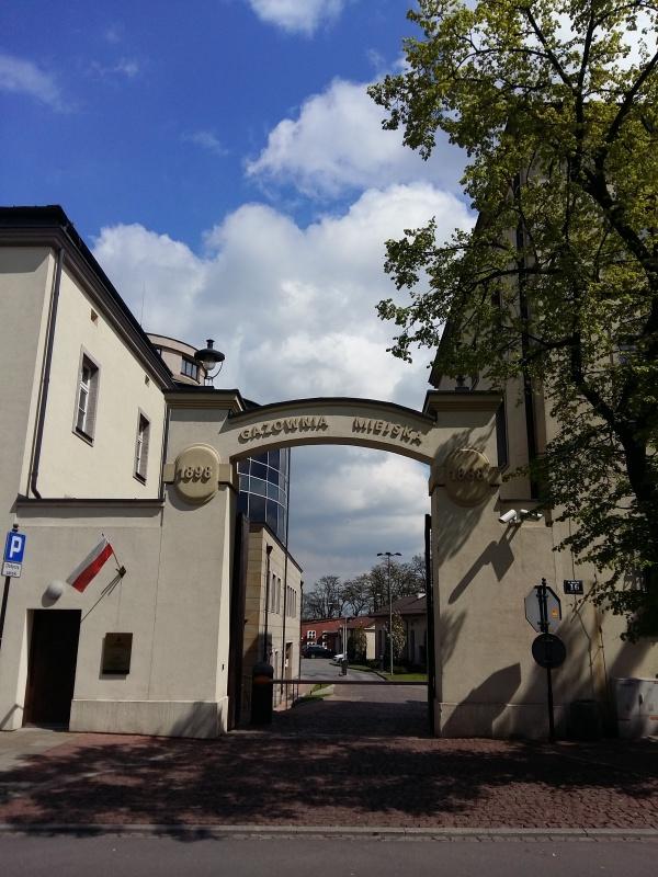 Historic entrance gate to Minicipal Gasworks