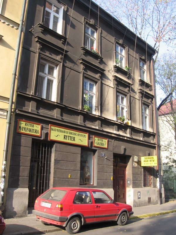 A tenement house at Bożego Ciała 29, Rytter gallery and artistic workshop housed on its ground floor
