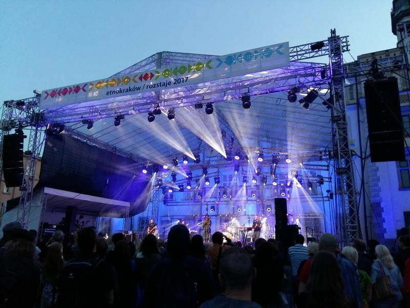 Concert in Wolnica square as part of Etnokraków Rozstaje 2017 Festival