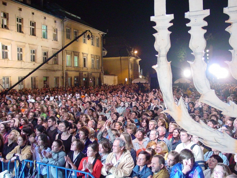 Szeroka street during the closing concert of the 13th Jewish Culture Festival