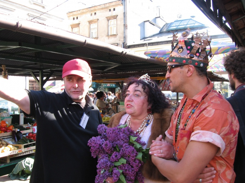 The Queen of Kazimierz at the Soup Festival