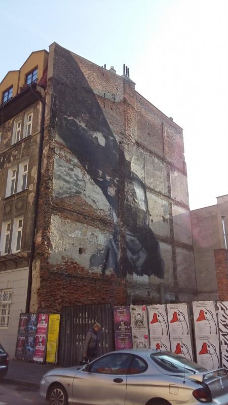Mural autorstwa Pikaso przy ul. św. Wawrzyńca