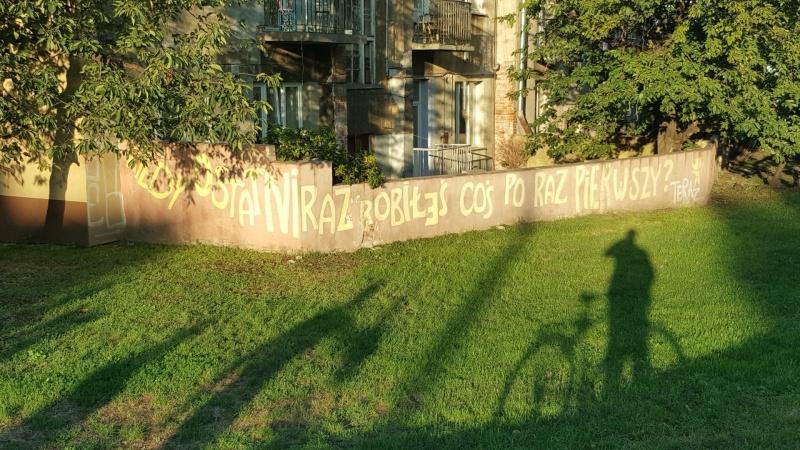 Mural wykonany w ramach projektu Zmaluj to! realizowanego przez Stowarzyszenie festiwal kultury żydowskiej jako przykład działań przeciwko treściom antysemickim pojawiającym się na ścianach
