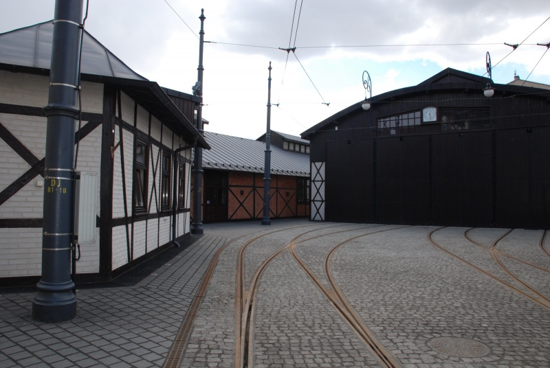 renovated building of hall F - standard track tramway