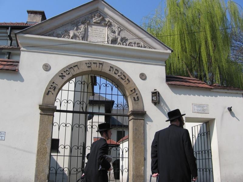 Orthodox Jews visiting Remuh synagogue