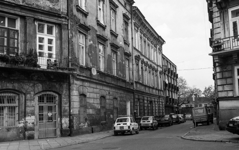 street, on the right fragment of street, tenements in closed coverage