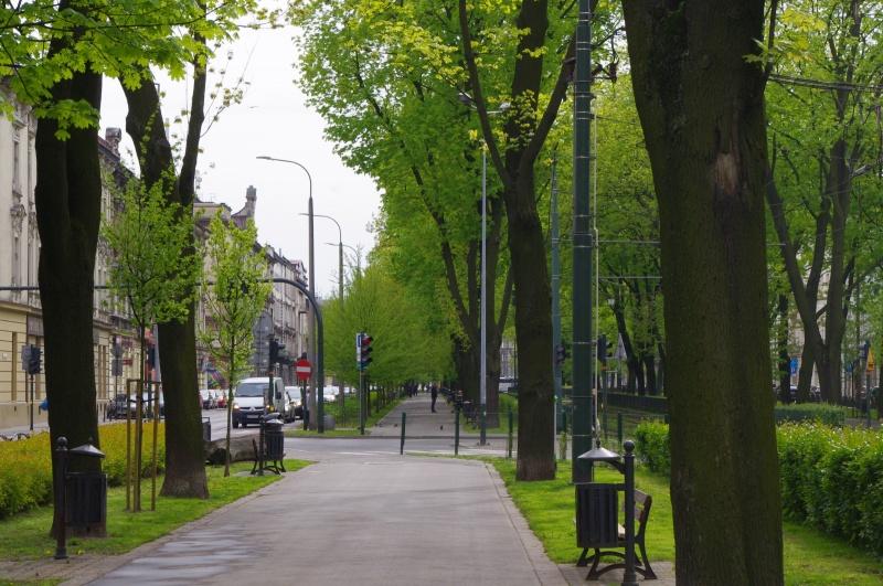 Dietla Planty Park, junction with Sebastiana street