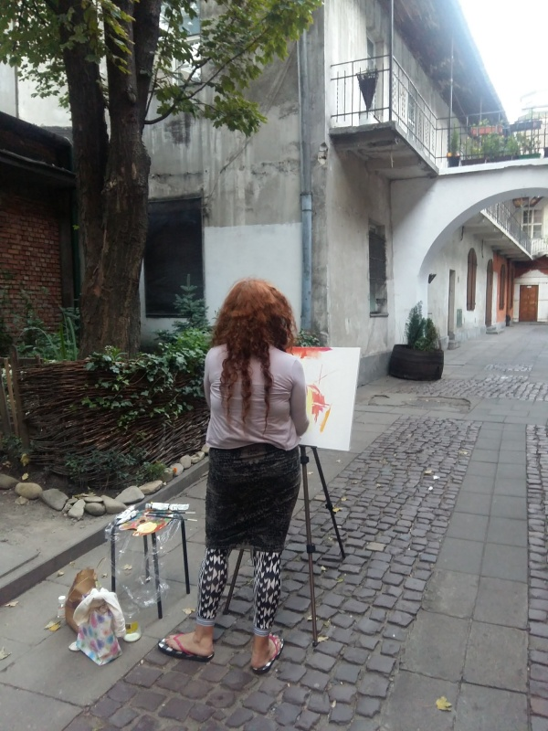 Plein-air painting in Kazimierz