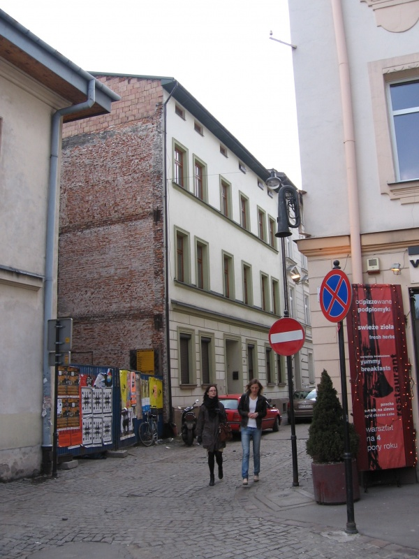 Empty space after demolishing of a ruin on Kupa street