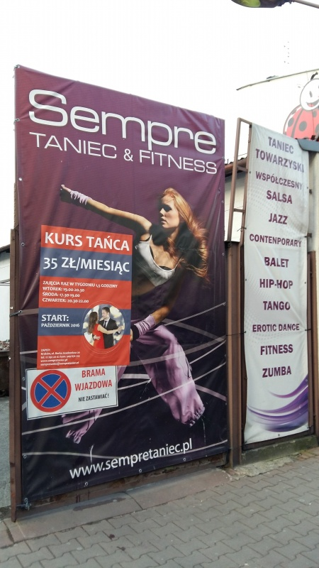 Advertising banner of