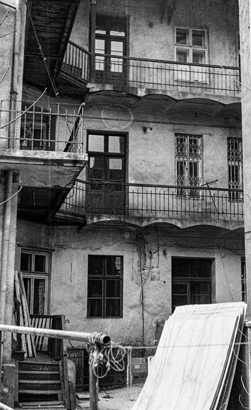 tenement - rear wall
