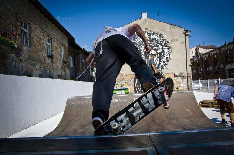 mini skatepark in Judah square
