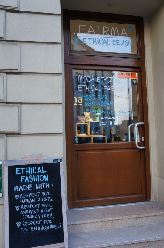 A shop with ethical fashion