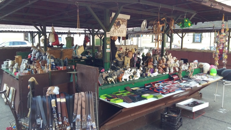 Stall with antiques in Nowy square