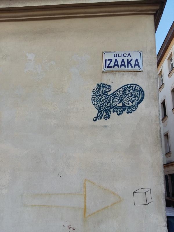 Street art on the building at 5 Izaaka street