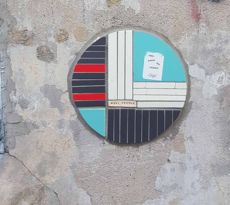 Street art createtd with the use of ceramic