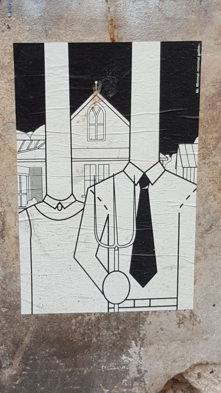Street art Created with the use of wheatpaste, authorship: Mr Minimal