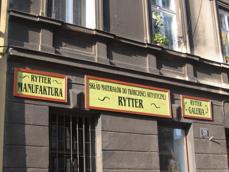 A sign of the Rytter gallery