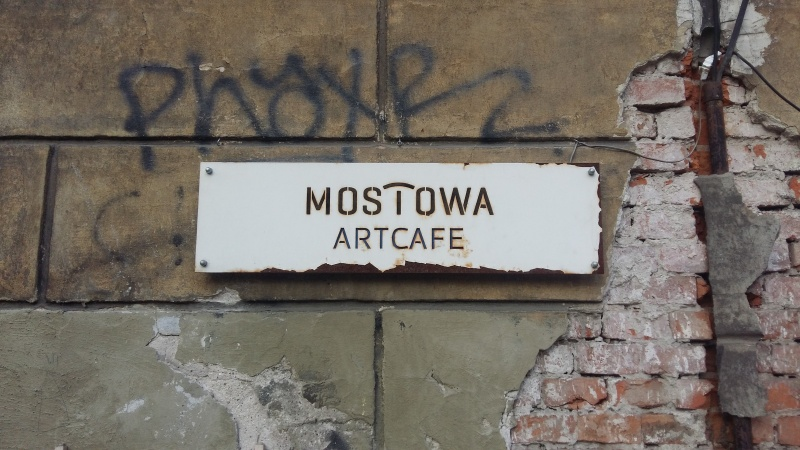 Sign of Mostowa Artcafe