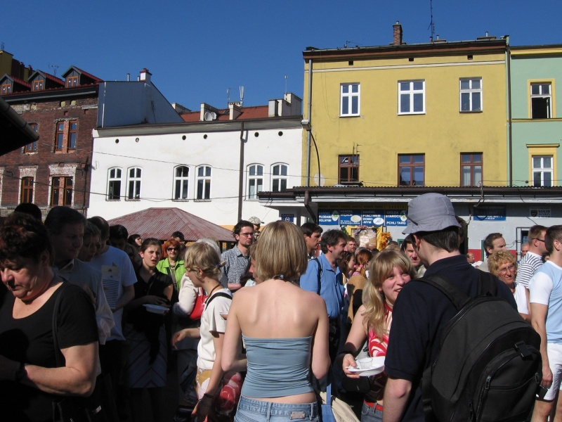 Crowds participating in the Soup Festival in 2005