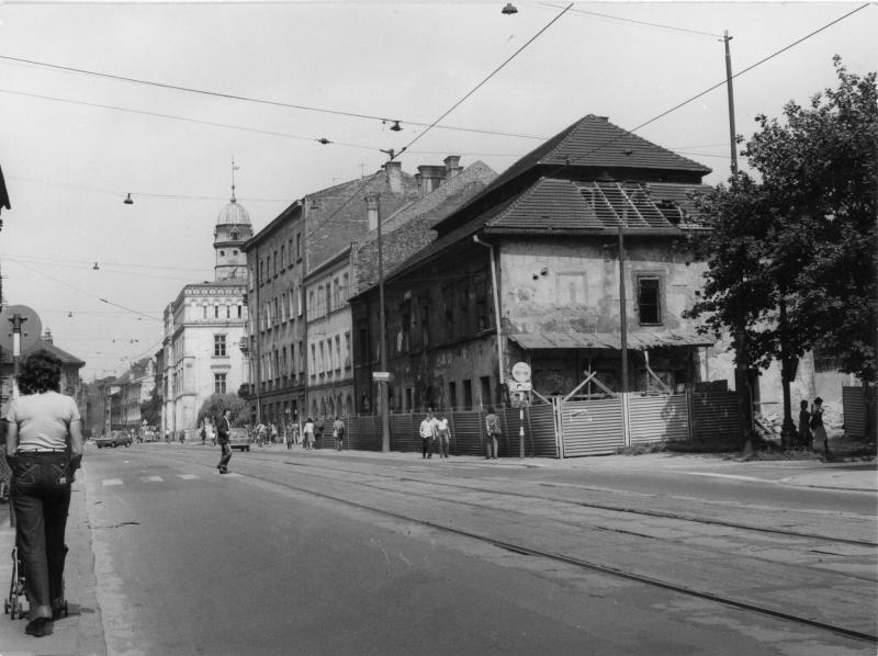 Krakowska street, view of the house of