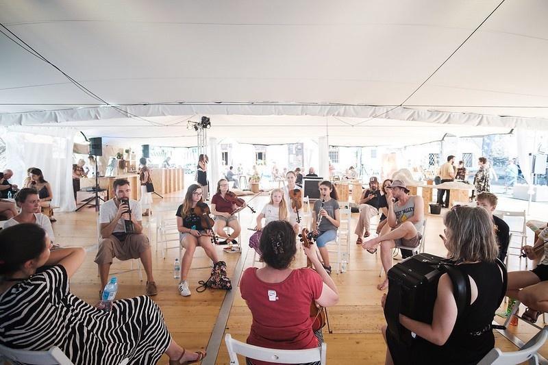 Warsztaty muzyczne w namiocie FKZ, 29 festiwal kultury żydowskiej