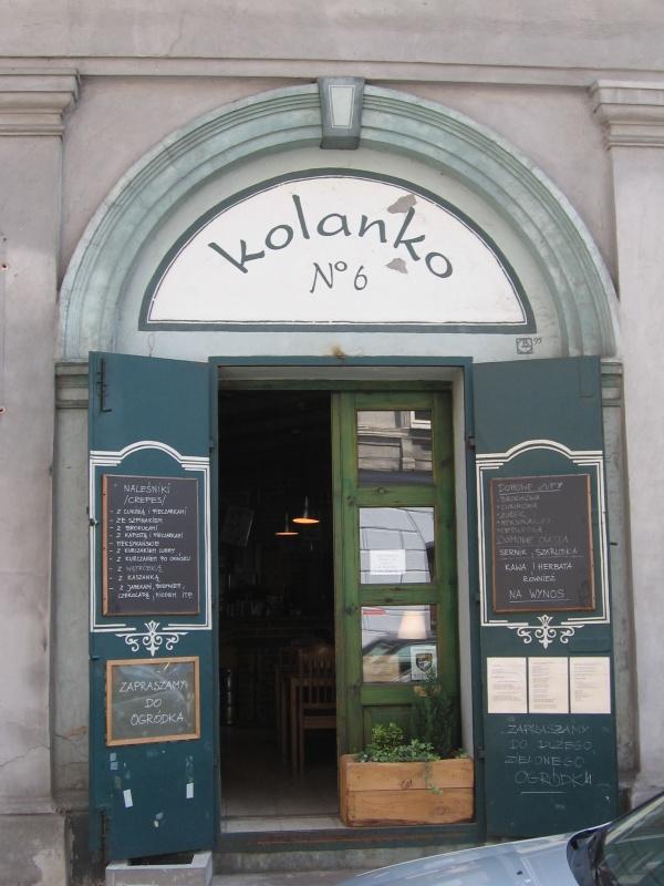 Restauracja Kolanko nr 6 szyld w 2008 roku