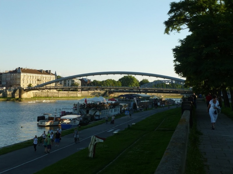 View of Kurlandzki Boulevard and Bernatek Footbridge