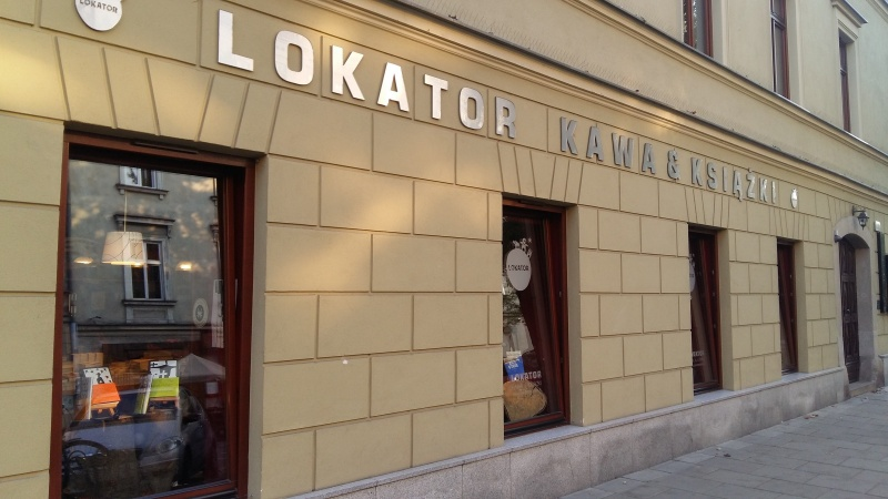 View of Lokator cafe and bookshop