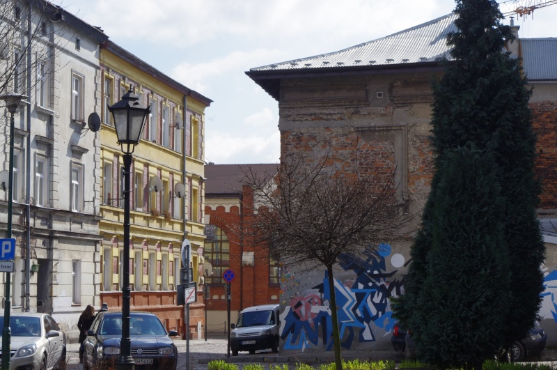 View of Bartosza street from the side of Bawół square