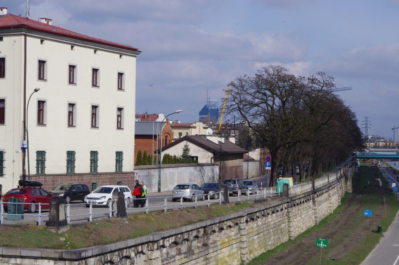View of Podgórska street and the Vistula Boulevard