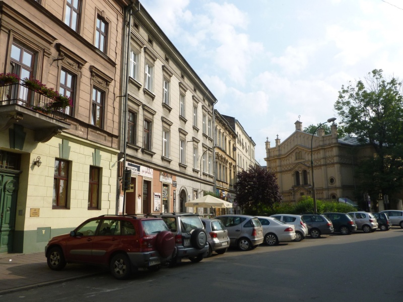 View of Podbrzezie street and Tempel synagogue