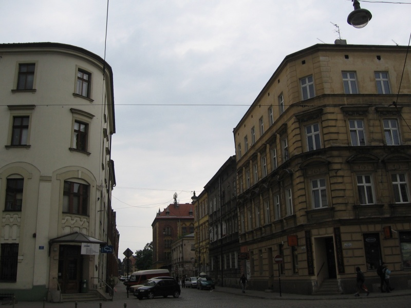 A view of the corner of Dajwór and św. Wawrzyńca street