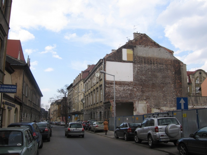 A view of the central section of Augustiańska street in 2008