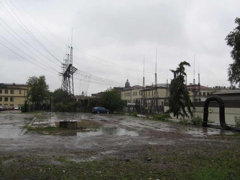 A view of the former industrial area alongside Podgórska street