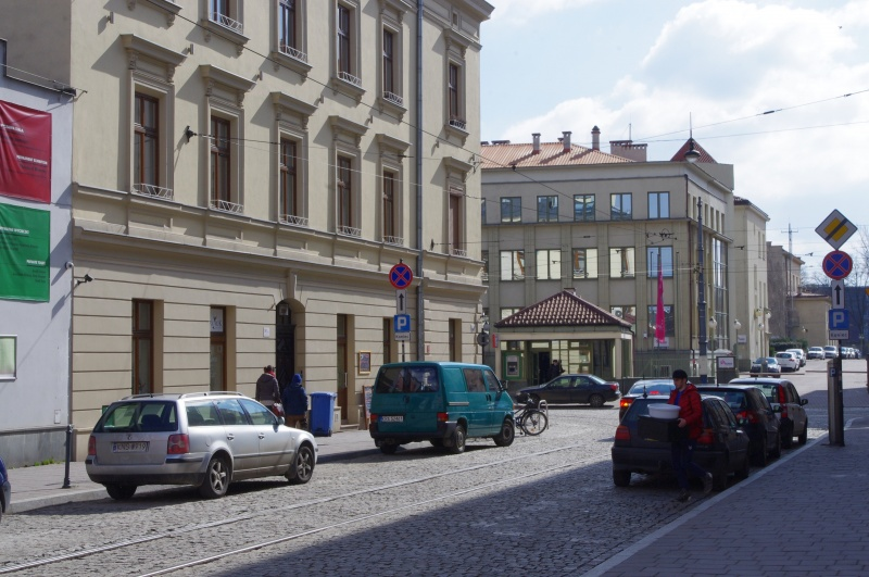 View of a street, entrance to the Municipal Powerhouse (Tauron SA)