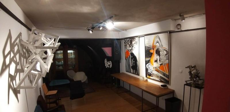 Interior of MAG art gallery