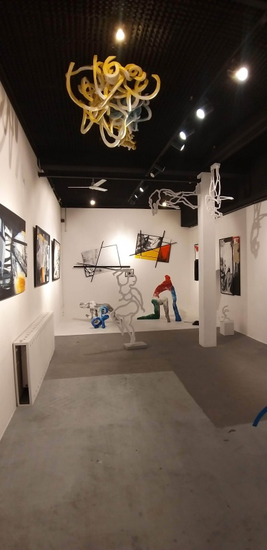 Interior of MAG art gallery