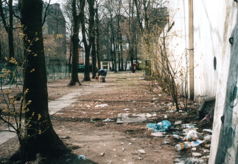 a littered plot after war-time demolishments between Krakowska and Bożego Ciała streets