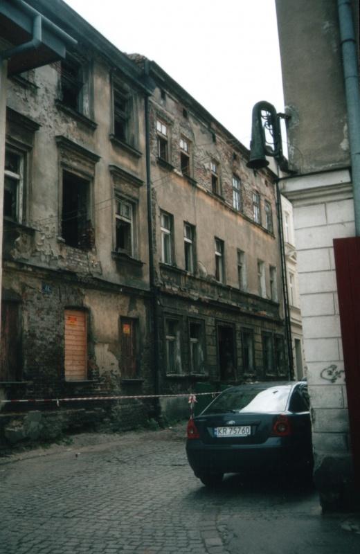 Zrujnowane budynki przy ul. Kupa, nieistniejący budynek przy ul. Kupa 22